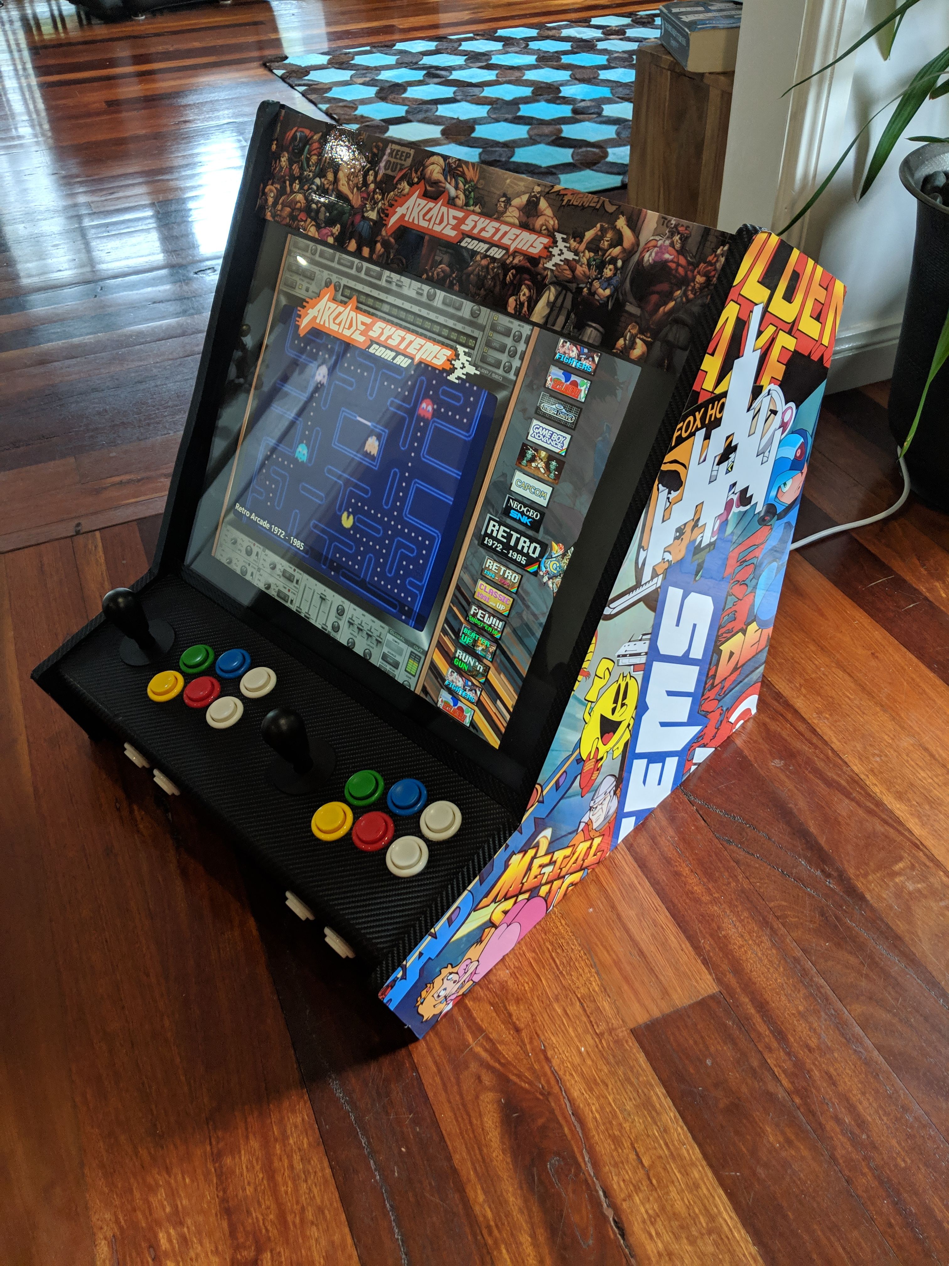 can be converted into a desktop arcade